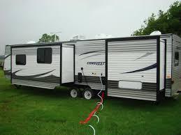 2 bedroom travel trailer floor plans trailers with two queen