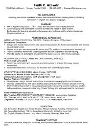 Paraprofessional Resume Sample by Esol Tutor Cover Letter