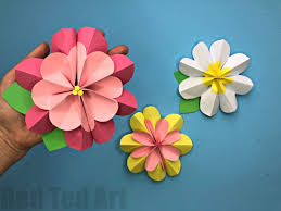 easy 3d paper flowers for ted s