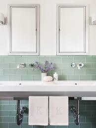 Tile Bathroom Backsplash Sea Glass Tile Bathroom Mediterranean With Bathroom Backsplash
