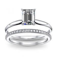 emerald cut wedding set emerald cut bridal wedduing ring sets