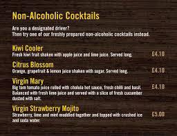 cocktail drinks menu non alcoholic cocktails u2013 café sol