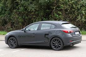 buy new mazda 3 spied mazda3 mule tests skyactiv x compression ignition tech