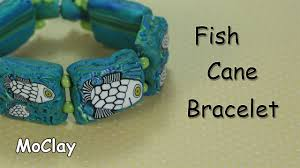 5 13 diy how to make a fish cane bracelet polymer clay tutorial