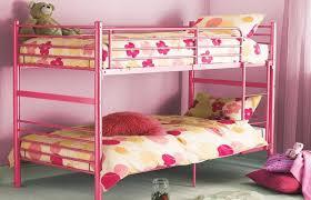 Bunk Beds Pink Bedroom Interior Design Pink Metal Bunk Bed Pink Walls Pink