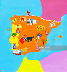 Portugal Spain Map by Illustrated Map Of Spain And Portugal Stock Illustration Getty