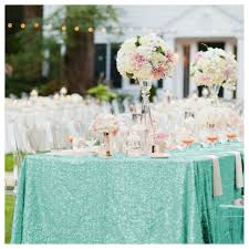 table linen wholesale suppliers aliexpress com buy elegant 50x72in mint green sequin table cloth