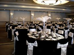black and white wedding table decorating wedding party decoration