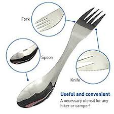 kitchen forks and knives amazon com individual cing spork spoon fork knife