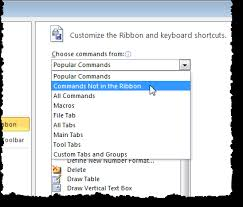 customize ribbon how to customize the ribbon in ms office