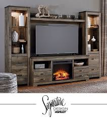 Electric Fireplace Media Console Ashley Electric Fireplace Media Console In Espresso Ashleyc23 8