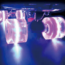 light up roller skate wheels 1 set 2pcs pro 60x45mm pu rubber material led light up wheels for