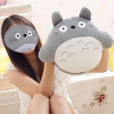 online cheap cartoon totoro plush hand warmer throw pillow cute