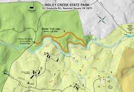 Tyler State Park Map by Ridley Creek State Park The Little Gsp