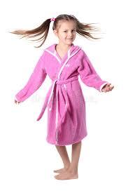 la robe de chambre fille dans la robe de chambre image stock image 13366543