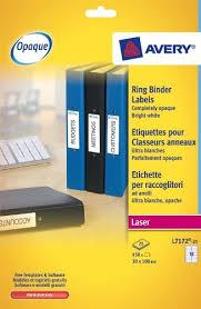 avery l7172 25 self adhesive ring binder file labels 18 labels