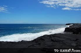 black sand beach big island new kaimu black sand beach big island