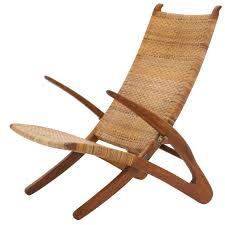 Hansen Patio Furniture by Rare Hans Wegner Dolphin Folding Lounge Chair Johannes Hansen
