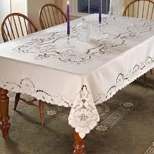 Dining Room Tablecloths Dining Room Beautiful Collection Lace Tablecloths For Cover
