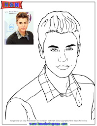 cute music icon justin bieber coloring page h u0026 m coloring pages