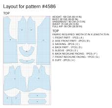 pattern layout on fabric dress from knit fabric sewing pattern 4586 made to measure