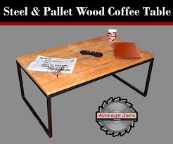 steel u0026 pallet wood coffee table 6 steps with pictures