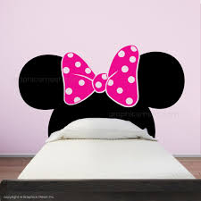 minnie mouse ears with bow headboard kids wall decals graphicsmesh minnie mouse ears with bow headboard kids wall decals