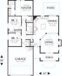 craftsman style house plan 3 beds 2 baths 1275 sq ft plan 48