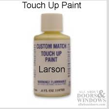 touch up paint color matched to storm door
