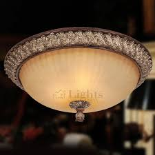 Flush Mounted Ceiling Lights by Country 3 Light Resin Carved Flush Mount Ceiling Lighting