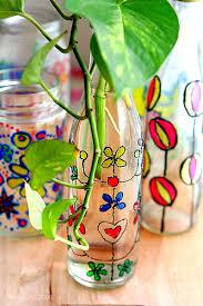 Glass Vase Painting Craftionary