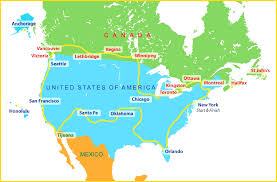 map showing time zones in usa united states map showing and cities maps of usa within mexico