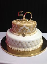 luxury design of 50th wedding anniversary cakes