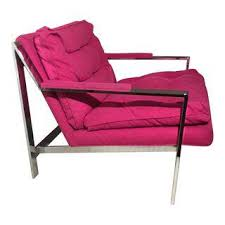 fuschia chair gently used cy mann furniture up to 40 at chairish