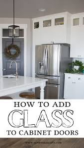 how to add glass to cabinet doors doors kitchens and modern