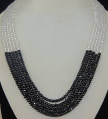 necklace designs with crystals images Buy designer black white crystal necklace set n0088dscn2824 jpg