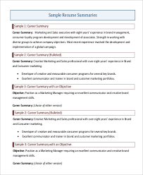 Career Summary Resume Example Example Of Professional Resume Substitute Teacher Resume Sample