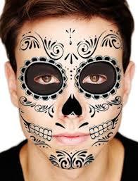 day of the dead skull temporary