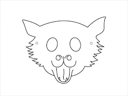 goat mask coloring page animal mask template animal templates free premium templates