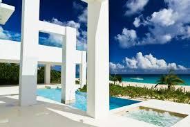 pool mediterraner stil garten säulen weiße whirlpool sommer meer