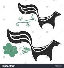 skunk vector silhouette stock vector 237193360 shutterstock