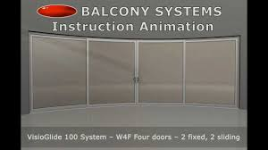 frameless glass doors uk how to install a curved sliding doors by balcony systems solutions