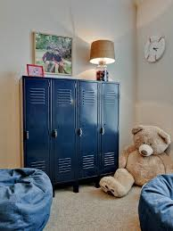 Love These Blue Lockers So Great For Organizing A Kids Room - Kids room lockers