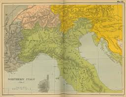 Italian Map Of Northern Italy 1796 1797
