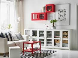 Cabinet Living Room Furniture Store And Display With Some Bright Pops Of Color Ikea