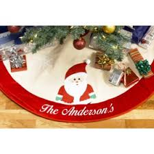 personalized tree skirt embroidered christmas tree skirt santa merrystockings