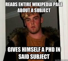 Wiki Meme - scumbag steve reads wiki memes quickmeme