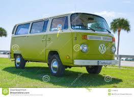 volkswagen vw volkswagen vw camper van antique car green u0026 white editorial image