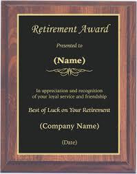 retirement plaque set template plaque retirement award