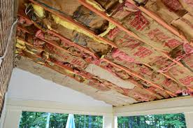 Insulation In Ceiling by How To Install A Wood Plank Ceiling Young House Love